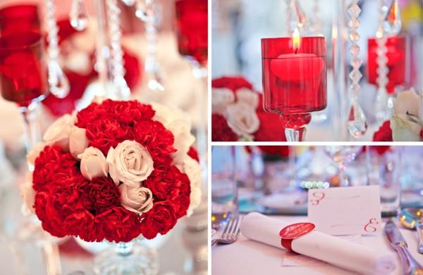 Hoa, nến, quà cho khách hai bên họ hàng có thể được trang trí trên bàn mâm quả.