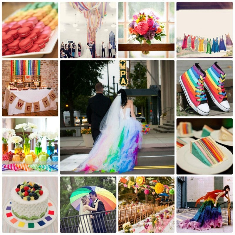 Màu sắc theme cưới Bảo Bình