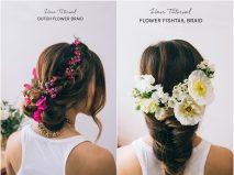 Hướng dẫn thực hiện 2 kiểu tóc cô dâu kết hoa nổi bật