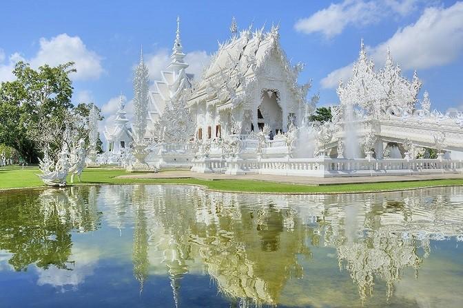 """""""Chùa Trắng""""- ngôi chùa đặc biệt hấp dẫn ở Thái Lan."""