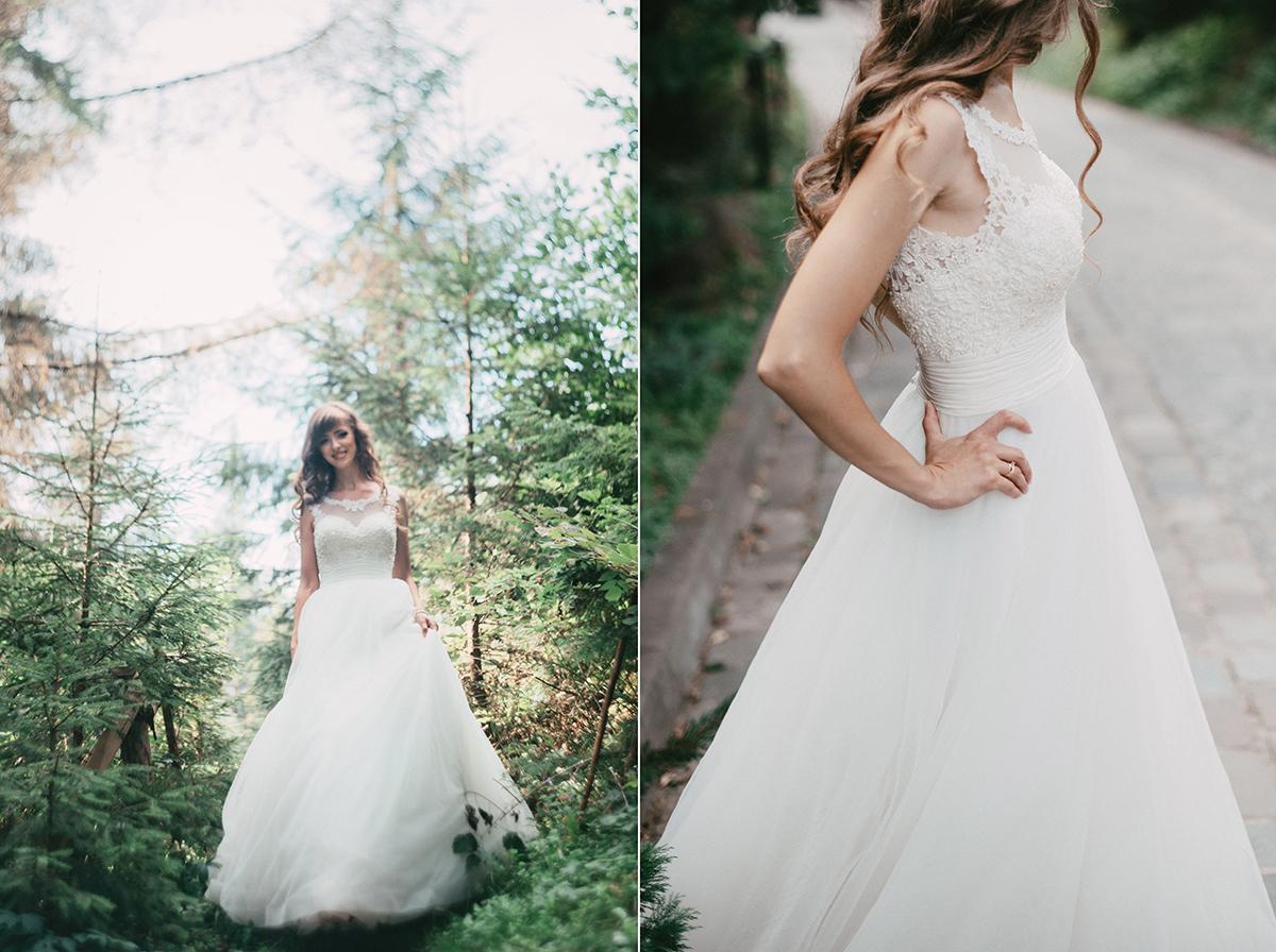 May váy cưới bằng vải Chiffon
