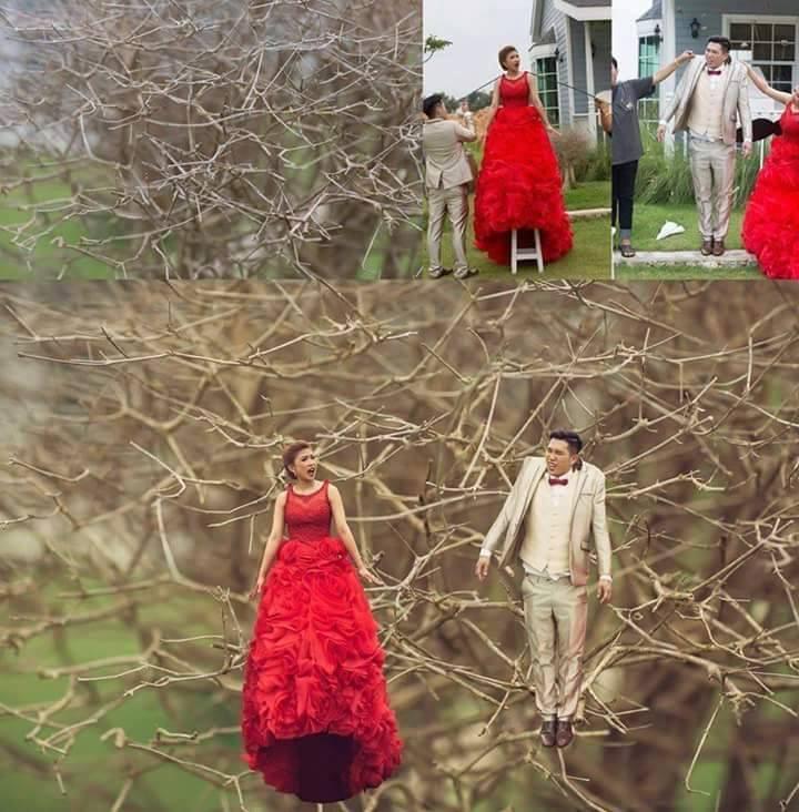 Ảnh cưới phong cách Người tí hon