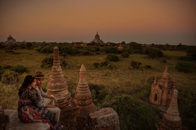 Uyên ương chạy đua cùng mặt trời khi chụp ảnh cưới ở Bagan - 7